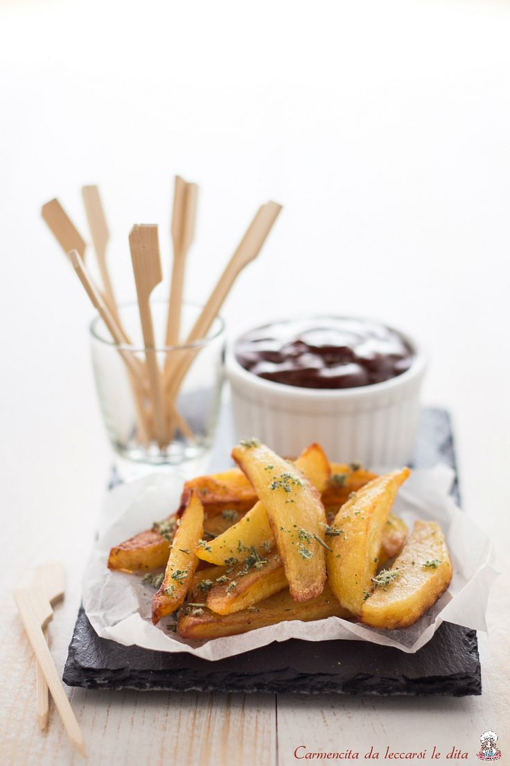 Patate fritte con salsa barbecue