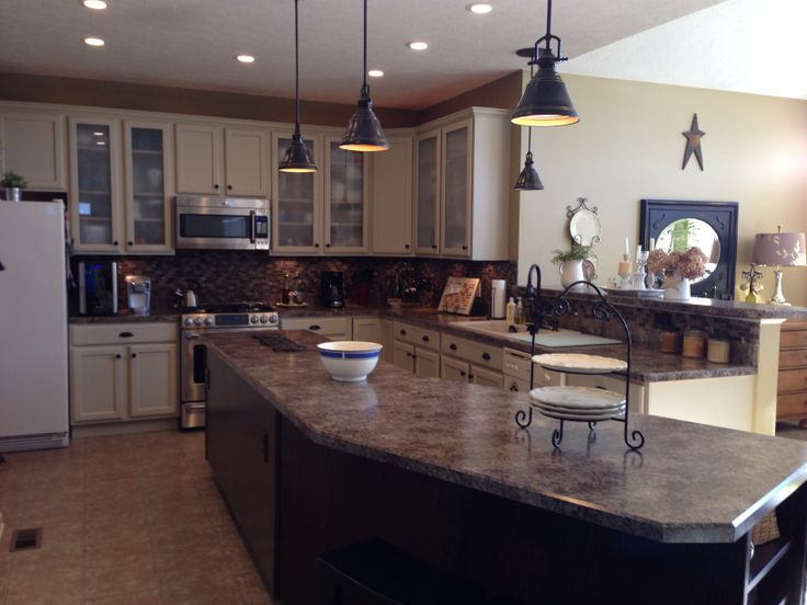 Our painted cabinets came out beautifully! We used Behr ...
