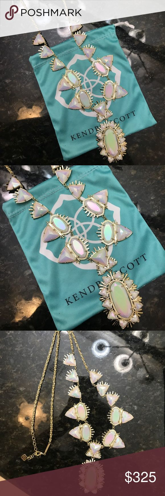 Kendra Scott White Iridescent Havana Necklace Rare Rare Havana Necklace. This piece is so stunning!  Never worn, only stored in my jewelry chest and admired. Comes with pouch. Any questions, please ask! Kendra Scott Jewelry Necklaces
