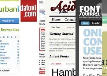 Top 6 Free Font Sites