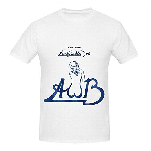 Average White Band The Very Best Of Average White Band Soundtrack Mens Crew Neck Short Sleeve Shirts White -- Read more reviews of the product by visiting the link on the image.