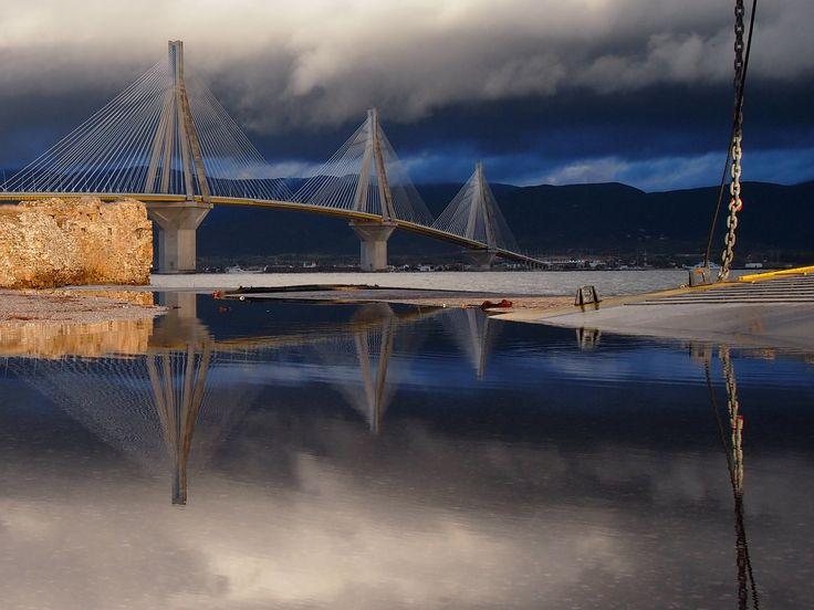 """Rio Antirio Bridge"" by Athanasia Kekebanou"