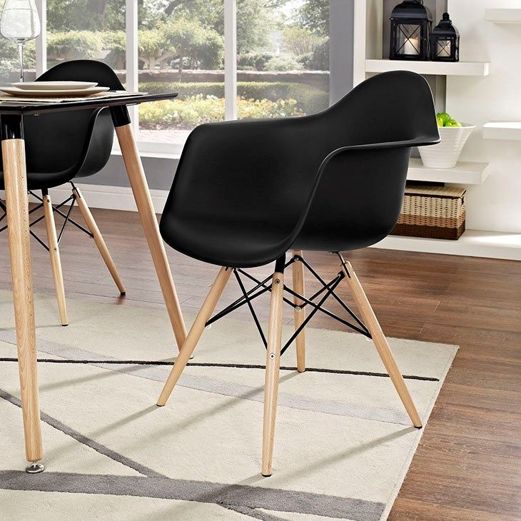 Pyramid Dining Armchair in Black 106 best