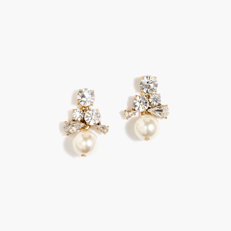 J.Crew - Pearl cluster earrings, $68