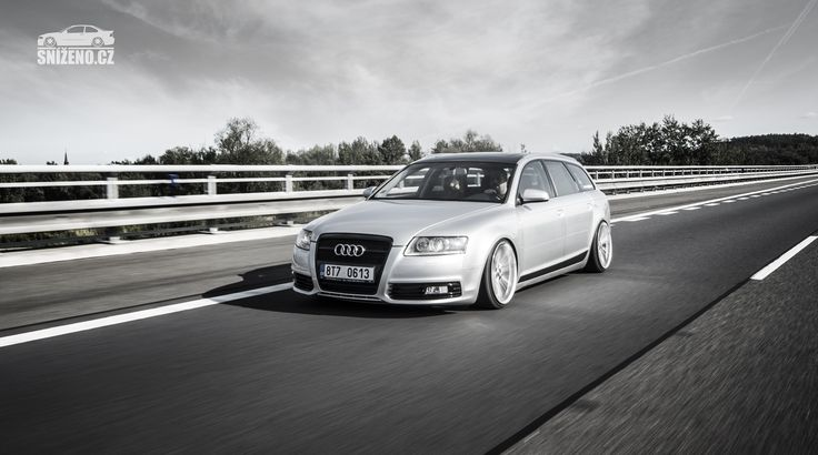 Čtyř-kruhový nafoukanec. To je Audi A6 Avant na vzduchu | Sníženo.cz - První český web o snížených vozech