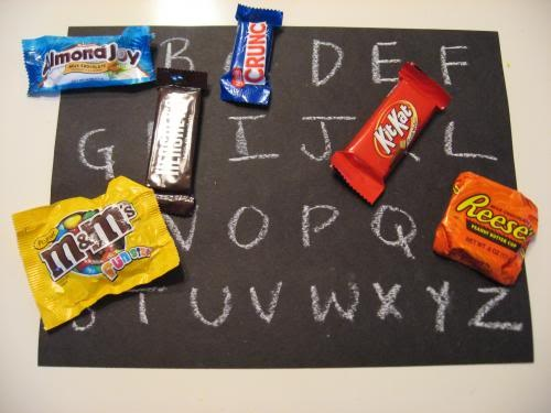 Candy Sorting alphabet activity