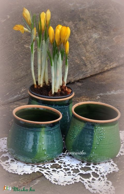 virág kaspók  (keramiko) - Meska.hu