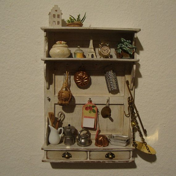 Dollhouse Furniture Miniature Storage Panel 1/12 Scale