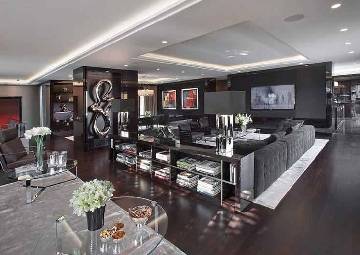 Luxury Dark Apartment by EXITDESIGN