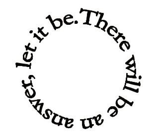 Beatles lyric tattoo