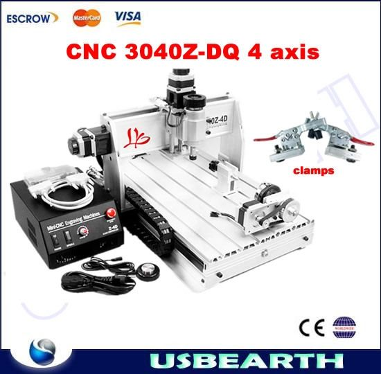 (845.50$)  Watch now  - 4 Axis CNC Milling Machine 3040 Z-DQ Wood Carving Machine CNC Router Machine