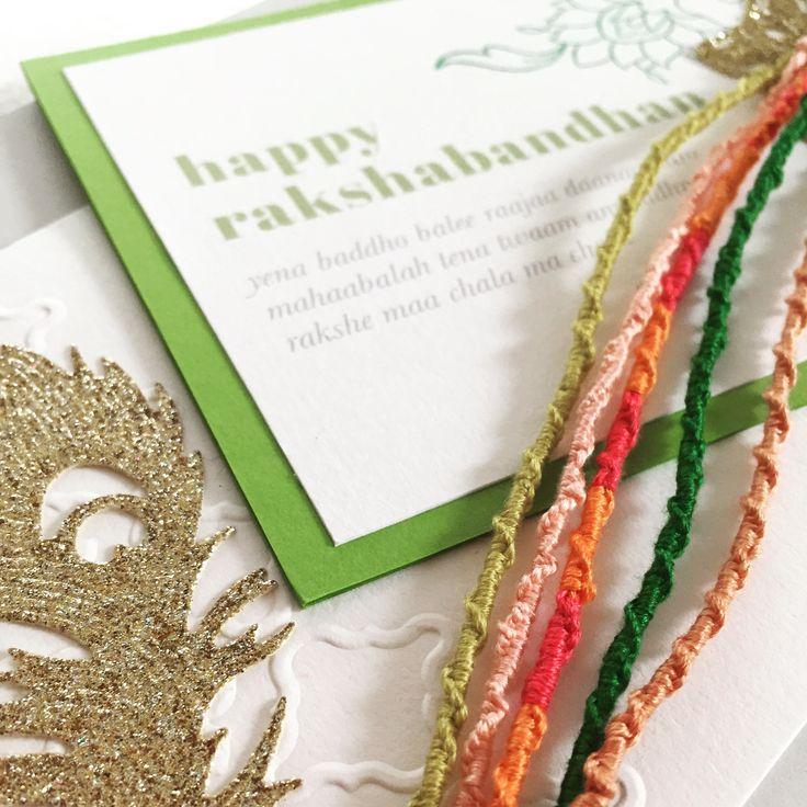 Handmade raksha bandhan greeting cards. Floral hand stamped printed,bright rakhi cards and hand made rakhi's x https://www.facebook.com/ManisCreativeServices