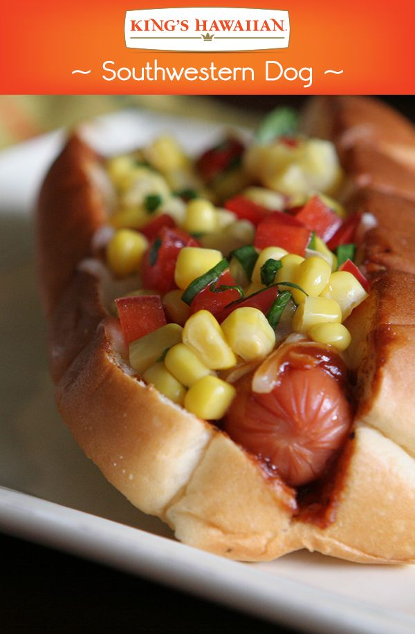 To be quite frank, this Southwestern Dog is made complete KING'S HAWAIIAN Smoked Bacon BBQ sauce. Perfect for Memorial Day!