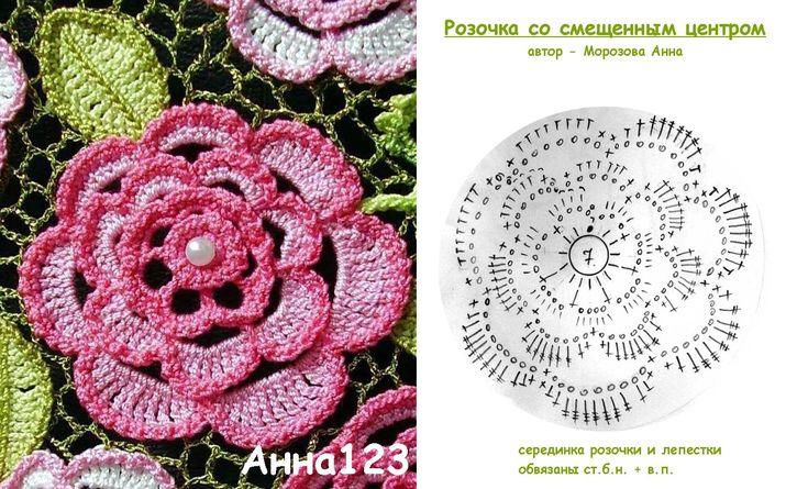 связать крючком плоскую розу: 18 тыс изображений найдено в Яндекс.Картинках