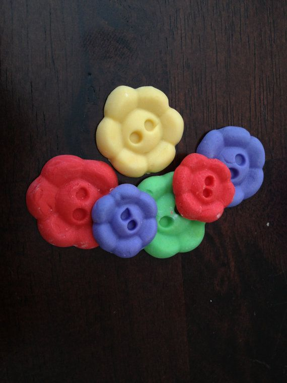 Fondant Flower Buttons Cake and cupcake accents by SweethartCakes
