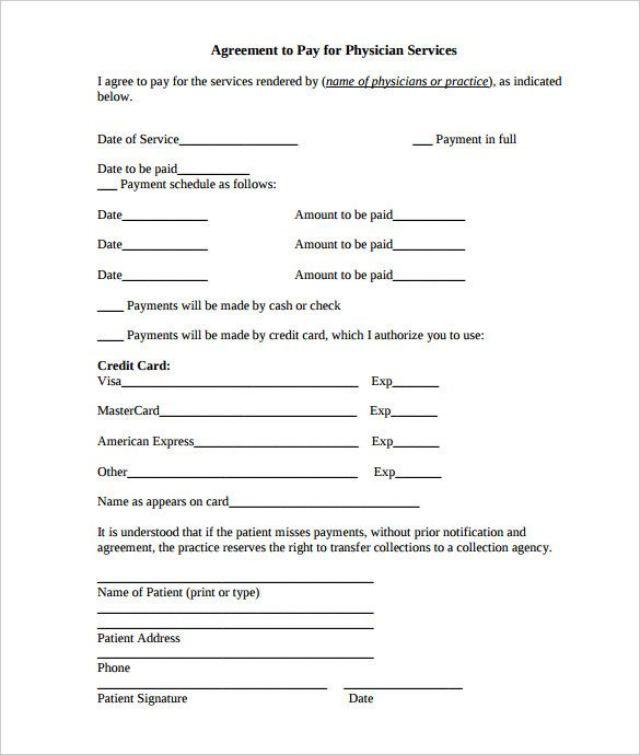 payment plan agreement template free word pdf documents   Home ...