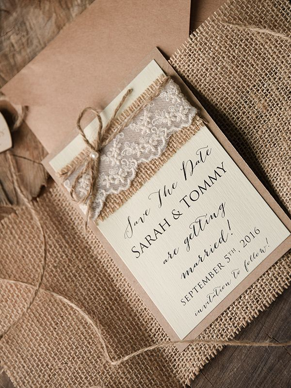 SAVE THE DATES rustic