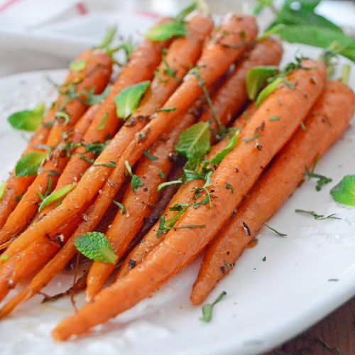Roasted Carrots with Cumin Seeds Cilantro and Mint Recipe