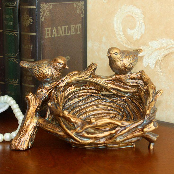 Европейский ретро птичье гнездо, птичье гнездо, США страна птица box, коробка, коробка ювелирных изделий, подарок на день рождения купить на AliExpress