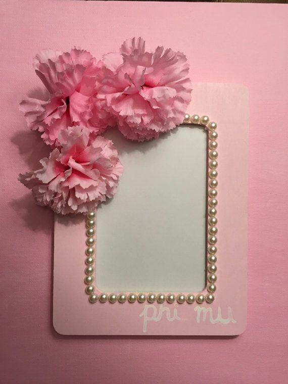 Flower and Pearl Custom Sorority Frame by LillyGirlsandPearls
