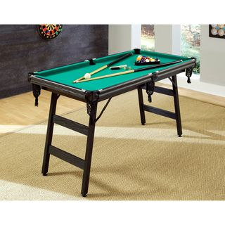 Portable 'The Hot Shot' 5-foot Pool Table @ Overstock $280