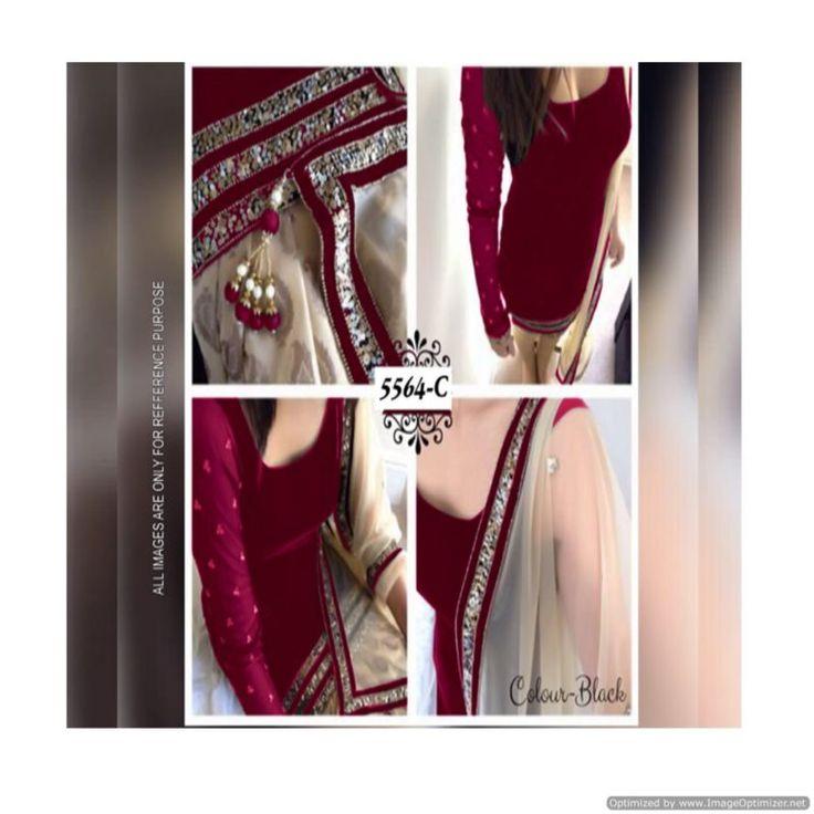 Piramalls Velvet Salwar Suit