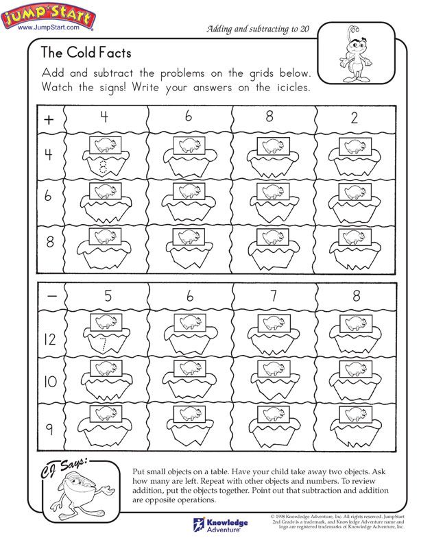The Cold Facts 2nd Grade Math Worksheets JumpStart – Smart Kids Math Worksheets
