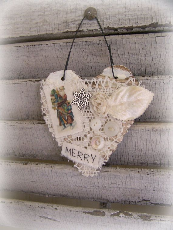 Handmade Christmas Ornament Altered Art