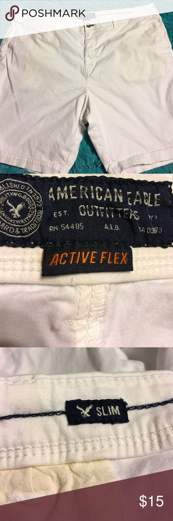 American Eagle men's shorts size 48 Pre-owned American Eagle shorts size 48 men's slim fit American Eagle Outfitters Shorts Flat Front
