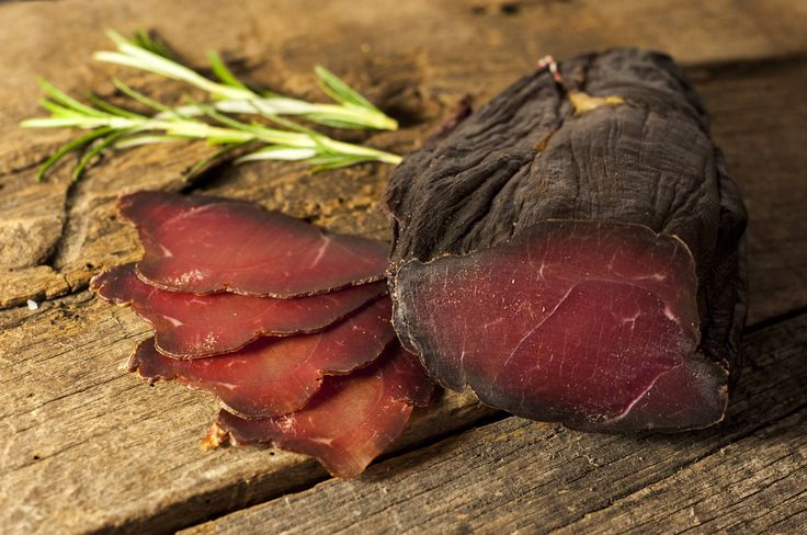 WILD BOAR BRESAOLA   We use a traditional method of preparing Wild Boar rump meat, using black pepper, coriander and juniper berries followed by smoking and ageing.