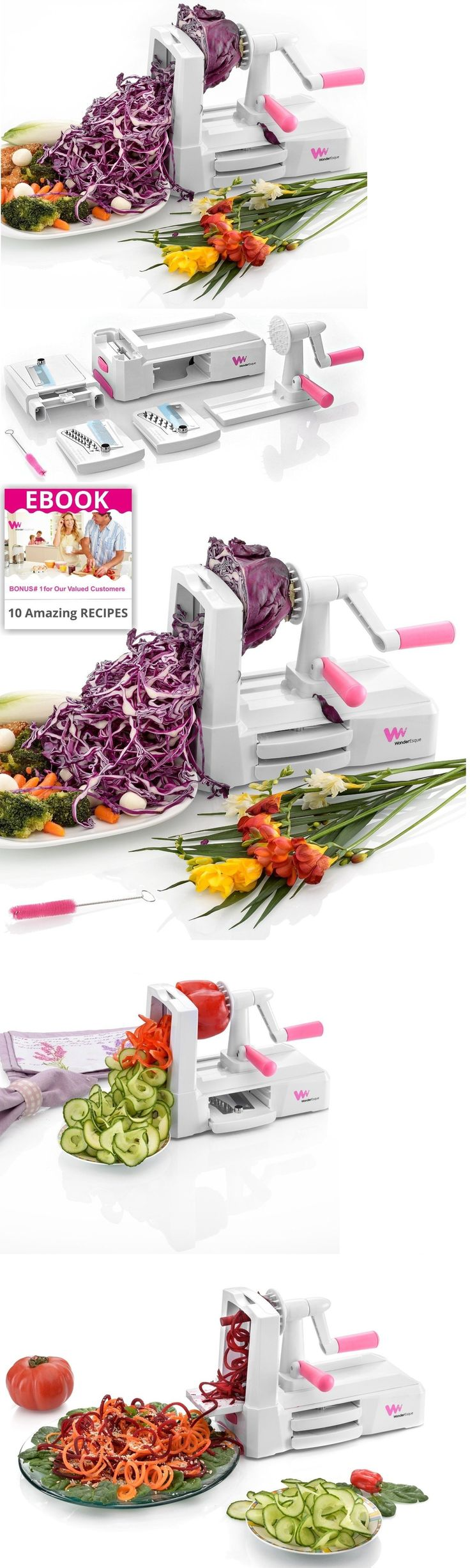 Slicers 134726: Zucchini Zoodle Noodle Spiralizer Vegetable Spaghetti Pasta Maker Slicer Spiral -> BUY IT NOW ONLY: $33.14 on eBay!