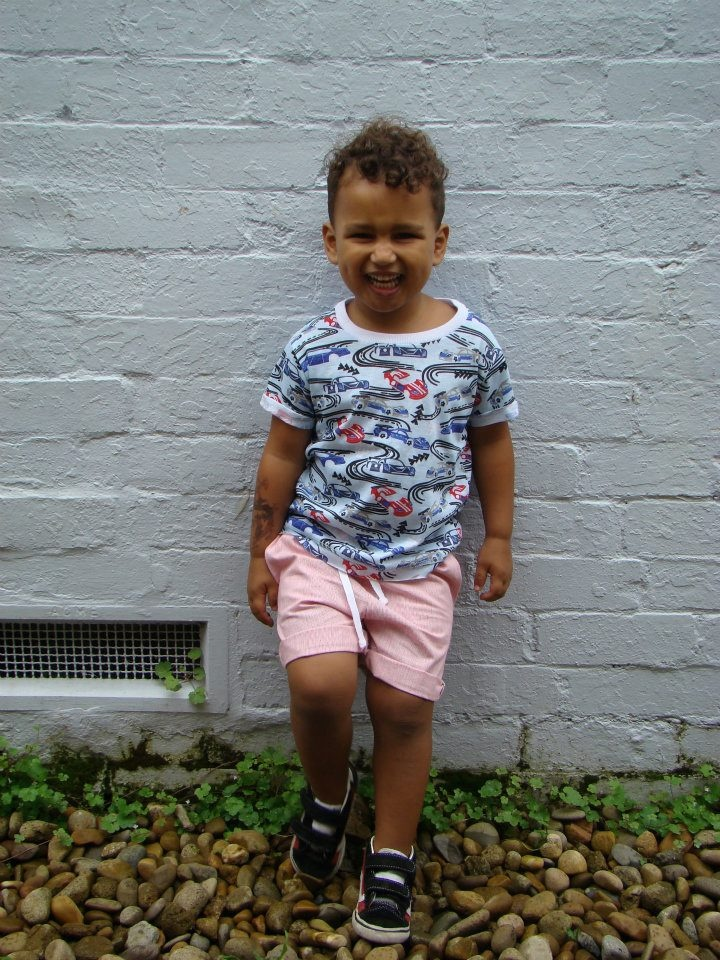 Tik e ta kids Summer Collection 2011:    Joseph T-shirt in racing car print. Sizes 2-8    Joseph shorts - elastic waist short with pockets in red/white yarn dye cotton drill. Sizes 2-8.