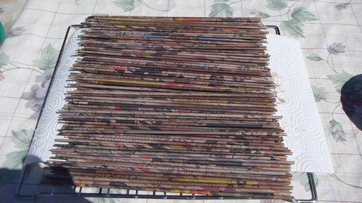Colorazione cannucce di carta con Mordente per legno