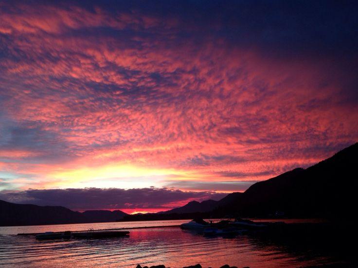 Lake Cowichan, BC sunset