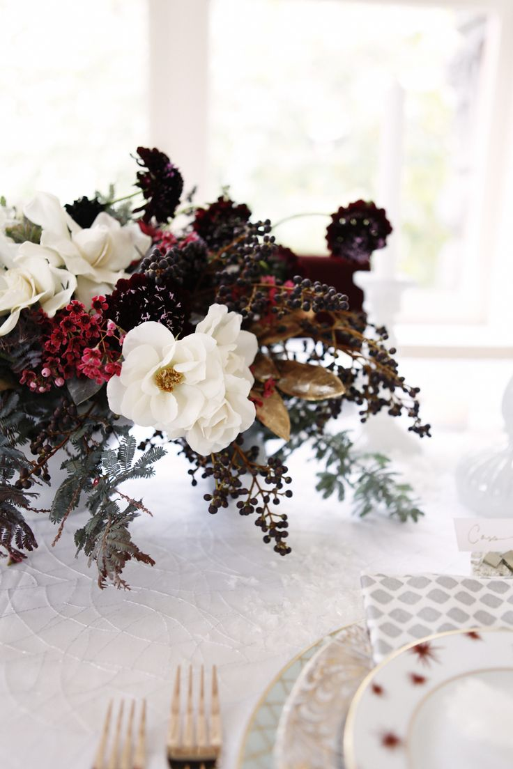 Holiday arrangements wholesale bulk flowers fiftyflowers - Holiday Entertaining With Coco Kelley Rue Winter Flower Arrangementsfloral