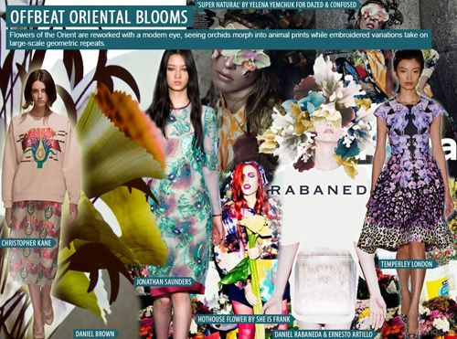 SS 2016 Women's Key Prints and Pattern, Offbeat Oriental Blooms