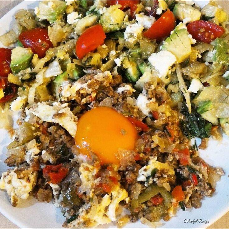 #egg with #groundmeat and #avocado #salad #paleo #lowcarb #kıymalı #yumurta #avokado #salatası #tasdevridiyeti #saglikliyasam