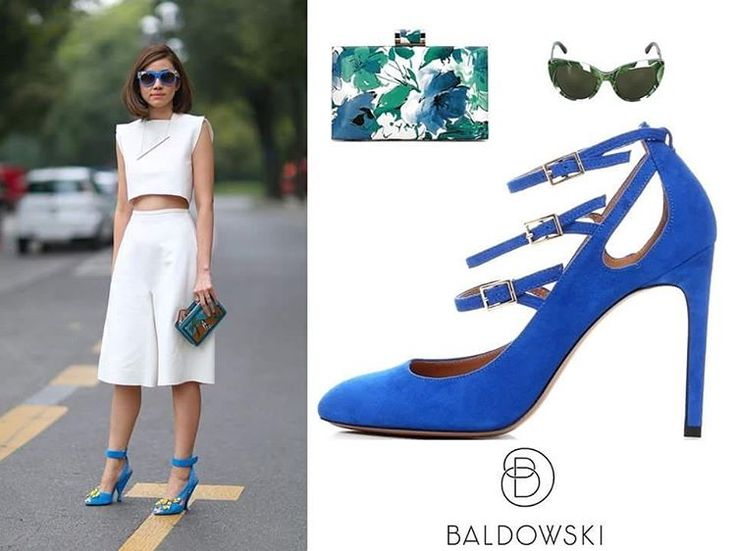 Get inspired with @baldowskiwb 👠 #baldowski #baldowskiwb #polishbrand #shoes #shoeaddict #shoelovers #fashion #fashionoutfit #fashioninspiration #streetwear #streetstyle #streetfashion #getthelook #bluesuedeshoes #suedeheels #whitetotallook #springsummer #getinspired #photooftheday #instagood