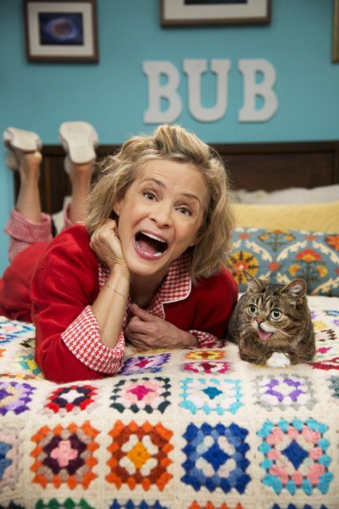 Amy Sedaris and Lil Bub