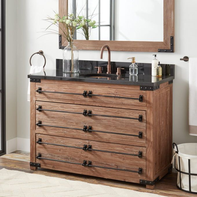 48 Bonner Reclaimed Wood Vanity For Undermount Sink Gray Wash