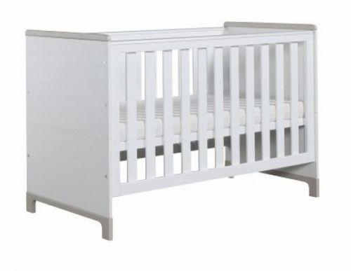 Kinderbett 140x70 Valencia Weiß-Grau