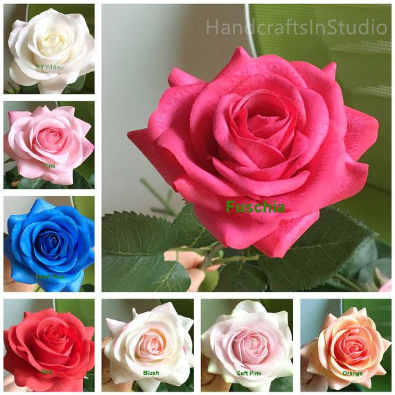 Real Touch Roses Champagne Flowers Latex Silk Roses 10 Stems For Bridal Bouquet Wedding Table Centerpieces Ceremony Cake Toppers ZHH-GSG-A These flowers are Realistic flowers, they look fairly real, even when you touch on them, you may not know they are fake flowers. Items