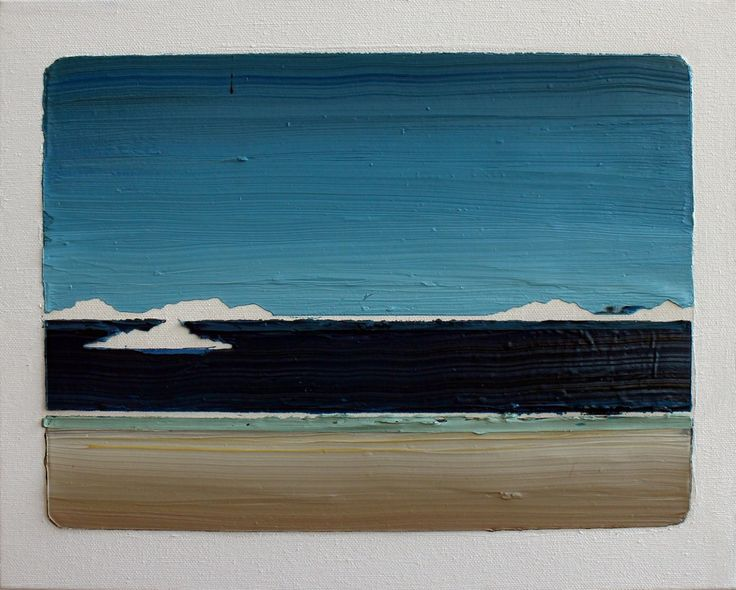 Rafael Zavagli - Pequena Nota Sobre o Mar, 2014 / óleo sobre tela  / 24 x 30 cm