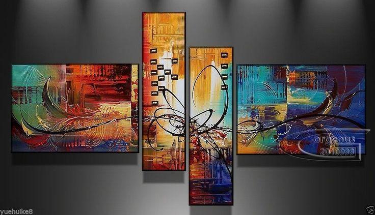 Precioso Y Moderno Arte Abstracto Pintura Al Óleo Sobre Tela (sin Marco)