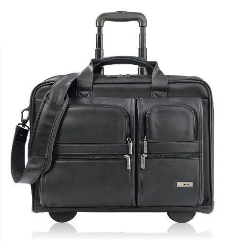 Solo Classic Collection Leather Rolling Laptop Case, Check-Fast Airport Security-Friendly Holds Laptop up to 15.6 Inches, Black (D957-4)  http://www.alltravelbag.com/solo-classic-collection-leather-rolling-laptop-case-check-fast-airport-security-friendly-holds-laptop-up-to-15-6-inches-black-d957-4/