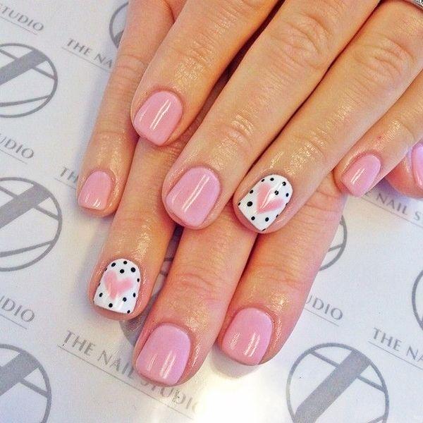 pink  nail art 49 - 65 lovely Pink Nail Art Ideas   <3
