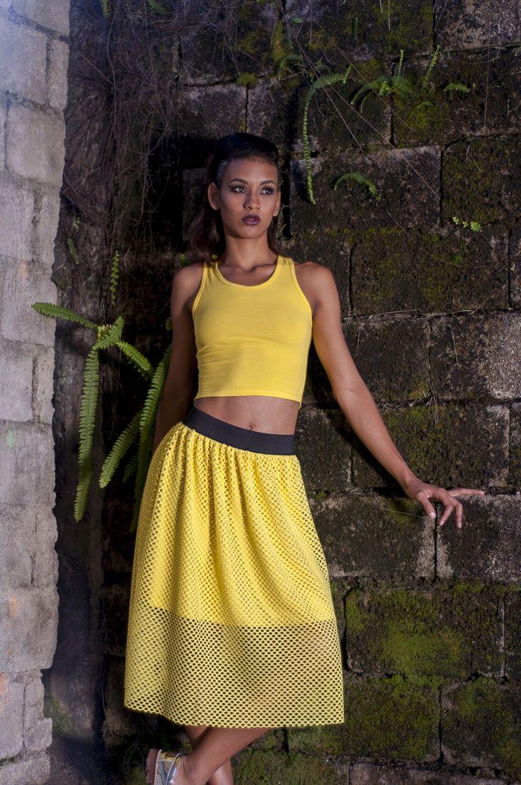 Yellow skirt by @styletissu #faire #skirt #fashion #yellow