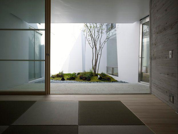 高須の家02 Pátio, jardin interno, casa em Hiroshima