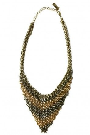 Contrast Draped Necklace