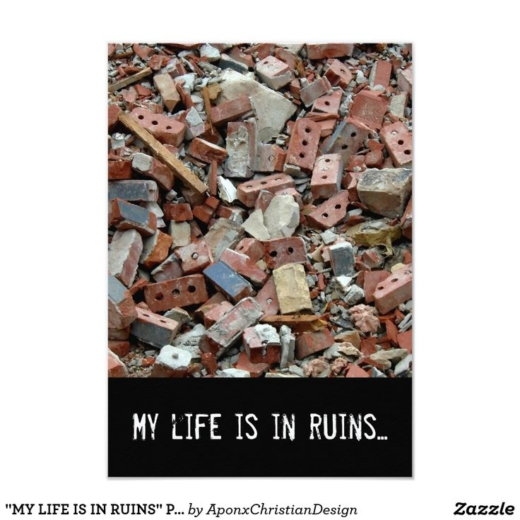 """""""MY LIFE IS IN RUINS"""" Prayer Request Card"""